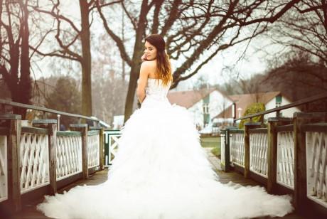Brautkleid-Shooting mit Nora